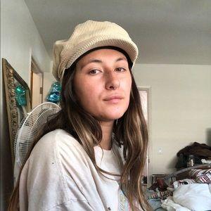 Corduroy bakers boy hat